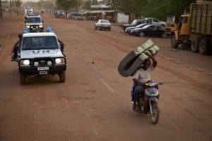 Unidad policial de MINUSMA en Patrol por Gao. Fuente: United Nations