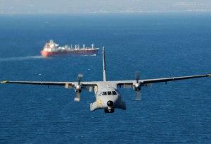 Vista frontal de la aeronave D.4 en la Operación Atalanta. Fuente: ejercitodelaire.mde.es